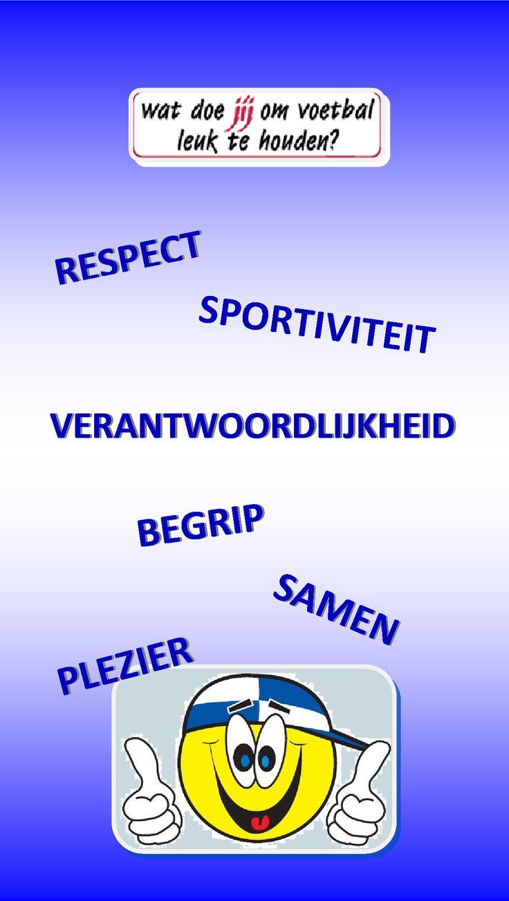 Wat doe jij om voetbal leuk te houden? respect, sportiviteit, verantwoordelijkheid, begrip samen plezier, u4fun ASC Waterwijk #Almere www.waterwijk.nl