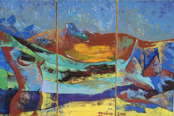 """""""Triptyque"""" par Hélène Py Nicolas de Staël mon maître pour la peinture au couteau  VOIR:    http://www.artmajeur.com/helene-py/"""