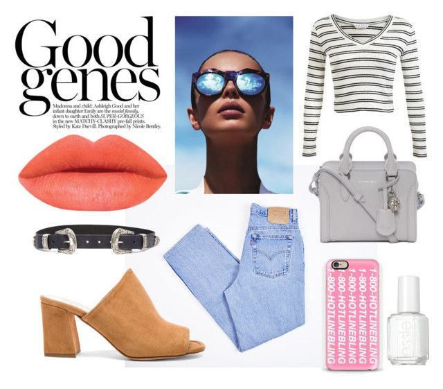 Good jeans by jjanice on Polyvore featuring Miss Selfridge, Levi's, Maryam Nassir Zadeh, Alexander McQueen, Casetify, ASOS, Essie and Le Specs