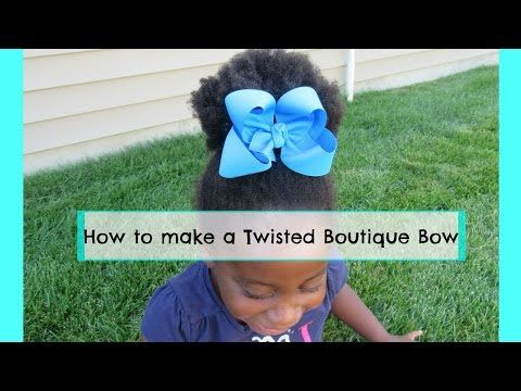 Fluffy Southern Boutique Bow using 2.25 inch Grosgrain - YouTube