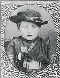 Johnny Clem - The Littlest Drummer Boy who ran off to join the Union Army and retired in later years a Major General.