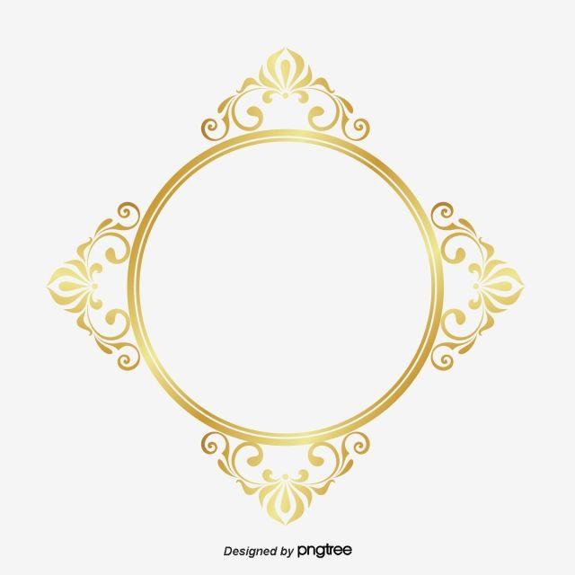 أربعة أشكال الشريط الذهبي حر Png و قصاصات فنية Circle Frames Golden Circle Jewelry