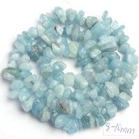 Product Detail Item Title: 6-8mm Pretty Natural Aquamarine Stone Chip Shape Gemstone Loose Beads Str