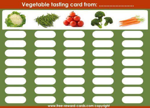 reward card tasting vegetables