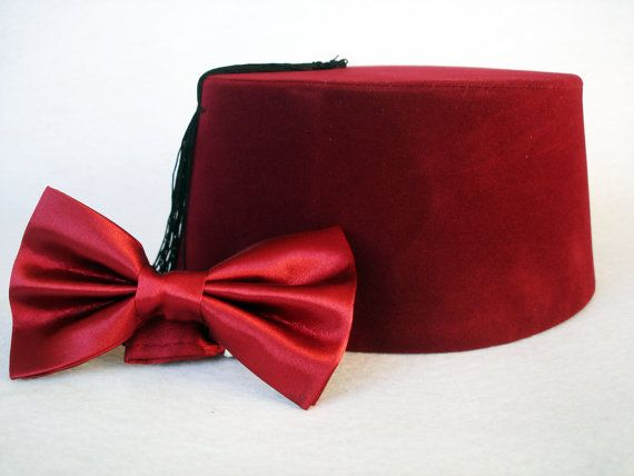 Doctor Who Fez And Bow Tie  Eleventh Doctor by PrettyTurkishThings, $15.99