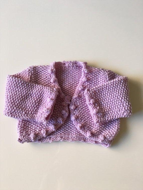 SOLD Handmade Lavender Knit Baby Cardigan for sale here https://www.etsy.com/listing/267968159/vintage-handmade-lavender-knit-cardigan?ref=shop_home_active_1