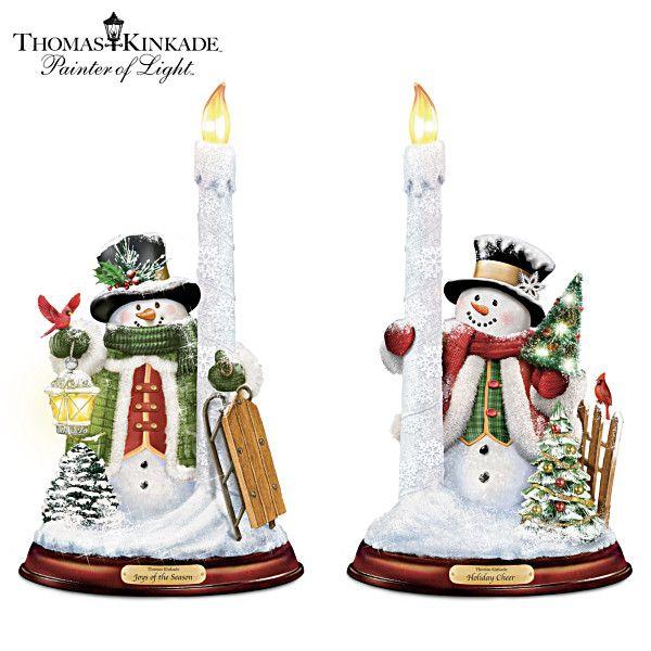 Christmas penguin snow globe Led Tealight Holder