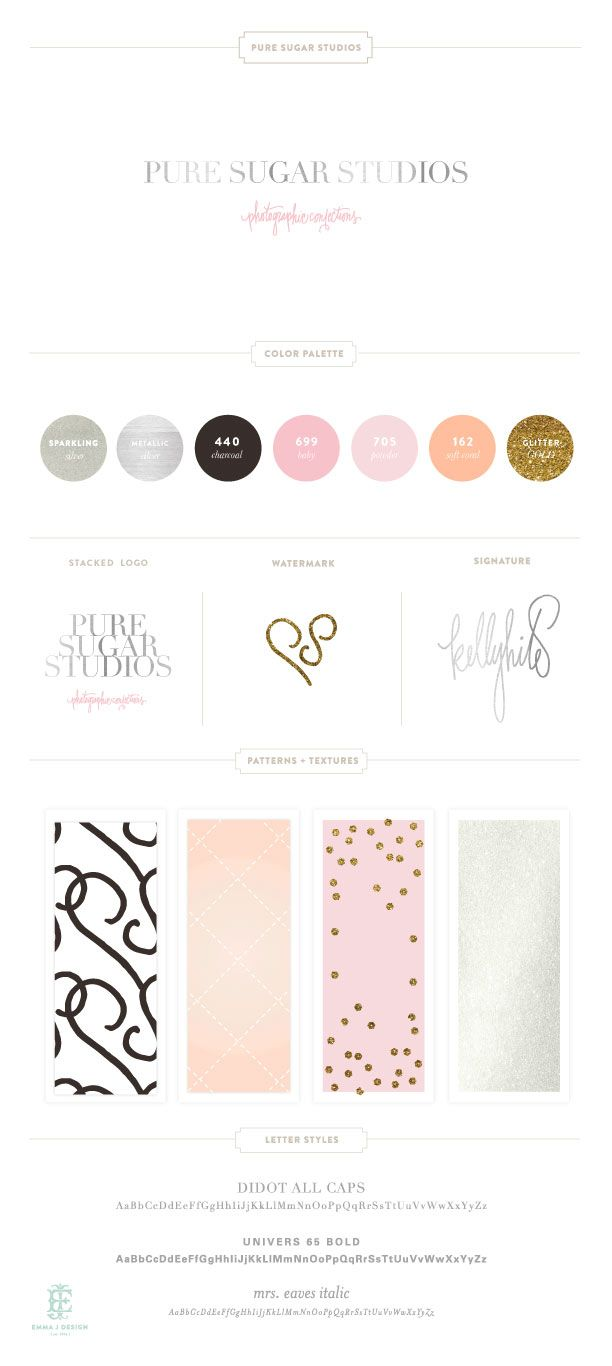 Pure Sugar Studios branding || by EMMA J DESIGN