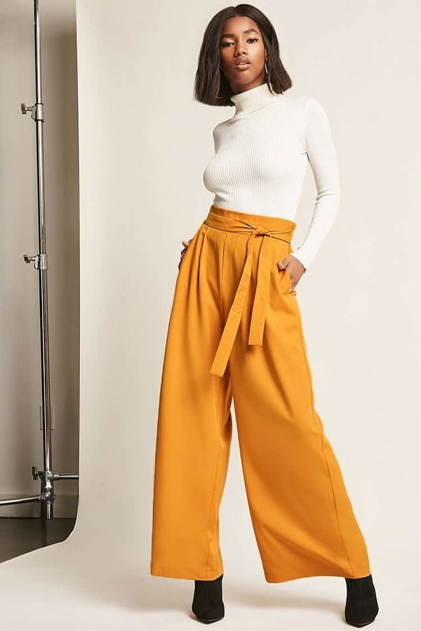 8d354cceae FOREVER 21 Pleated Wide-Leg Pants $24.90 | Outfit Ideas For Women in ...