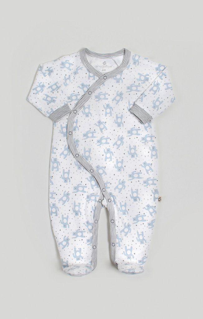 4de9d42167c4 Snugabye Baby Boy Dream Kimono Bear Pattern Sleeper  baby  babywear ...