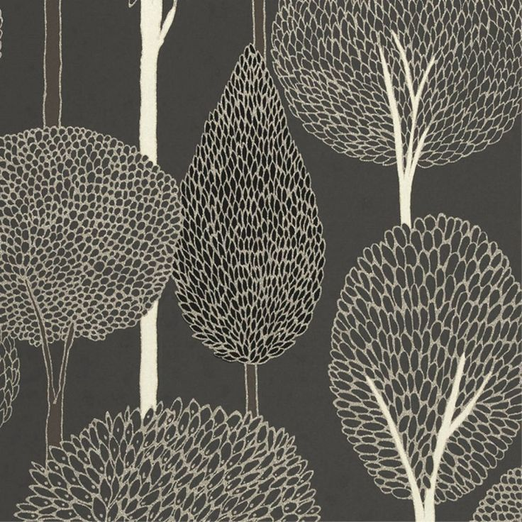Silhouette Wallpaper - Silver/Charcoal/Slate (60117/110932) - Harlequin Boutique Wallpapers Collection