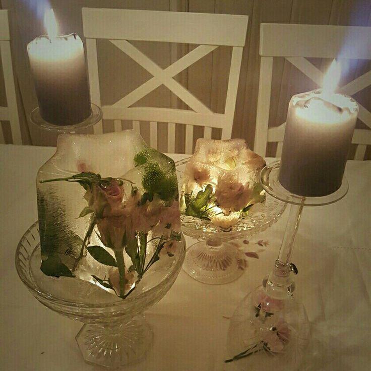 Islykter og vinglass til lysestaker på forening .