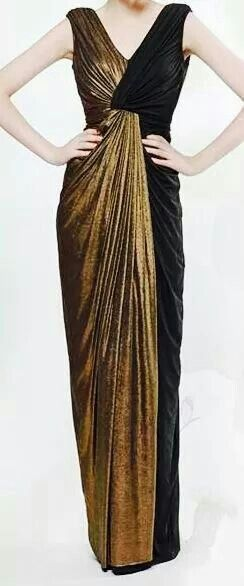 Black n gold formal evening gown