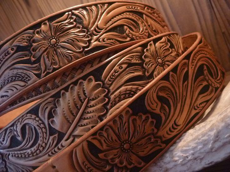 Best leather carving images on pinterest belt