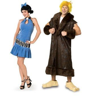 Couples Ladies & Mens Betty & Barney Rubble The Flintstones Fancy Dress Costumes Outfits: Amazon.co.uk: Clothing
