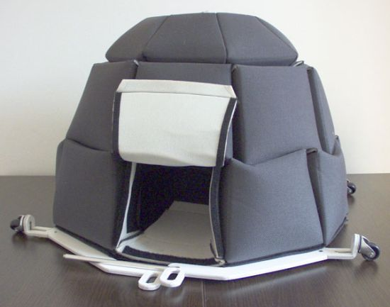 , its an insulated igloo to camp IN THE SNOW.