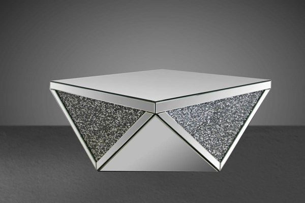 Acme Furniture Noralie Square Coffee Table Mirrored Coffee