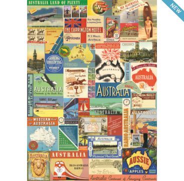 Australia Collage 2 - wrapping paper from Cavallini & Co. Available at Bobangles.
