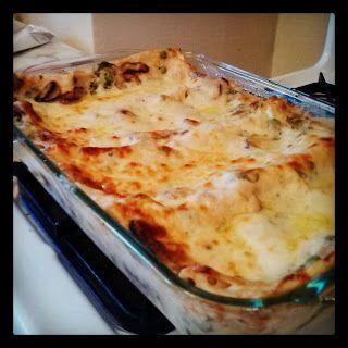 Creamy Mushroom and Spinach Lasagna | Vegetarian and Vegan | Pinterest