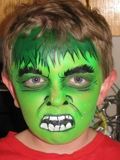hulk face painting - Google Search