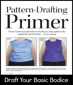 Excellent Free Resource for Drafting Your Own Basic Bodice - example given on a plus size figure