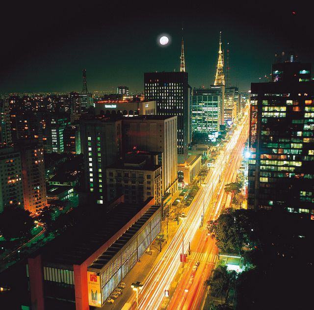 Avenida Paulista - Noite by Brazil Mosaic,