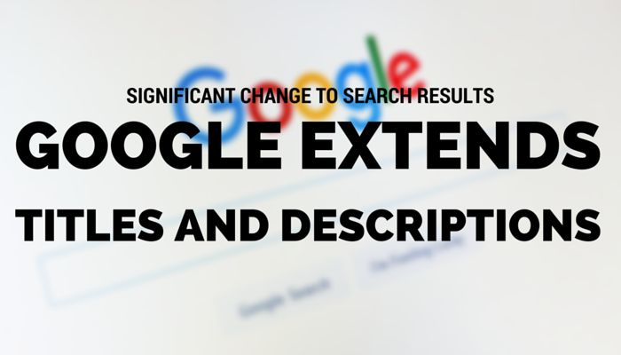 Significant Change to SERPs: #Google    Extends Length of Titles and Descriptions - #searchenginejournal    -  Google has made a significant change to its search results pages by extending the length of titles and descriptions. @sejournal https://www.searchenginejournal.com/google-titles-and-descriptions-2016/163812/