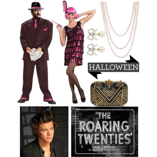 1920s costume with Harry for Halloween by forever-vvip on Polyvore featuring…