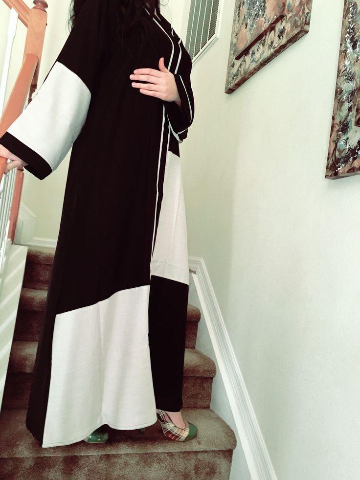 Dubai everyday abaya via Majdoolina. Click on the image to see more!