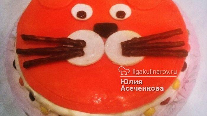 "Торт ""Кот""! Попробуйте и вы!  http://ligakulinarov.ru/recepty/biskvitnye-torty/frukty-yagody/tort-kot-103580"