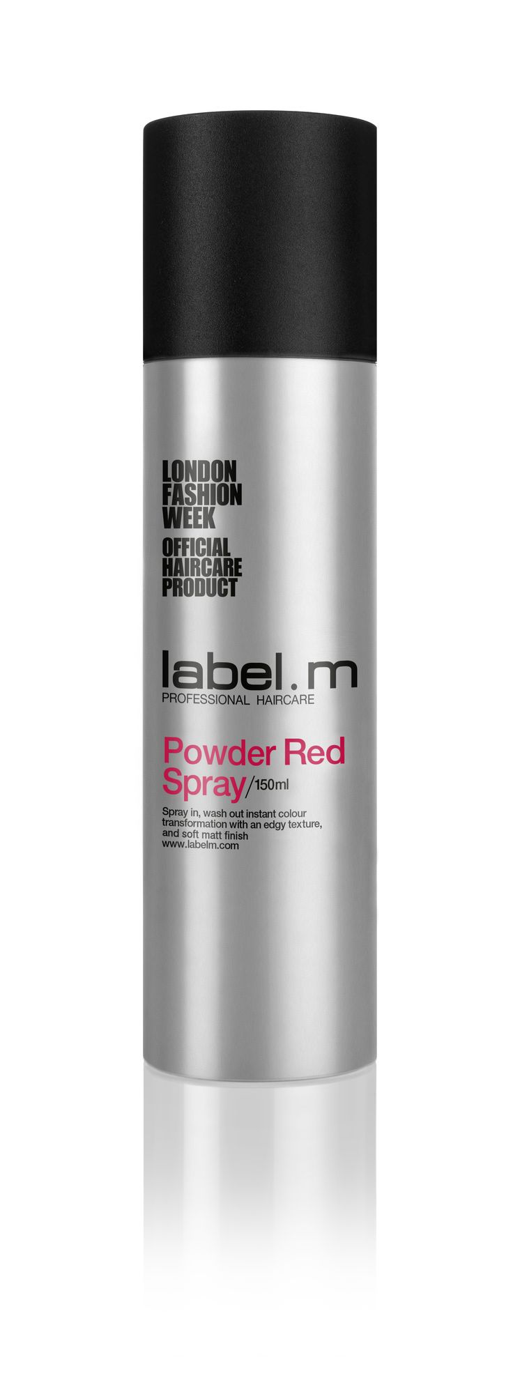 label.m Powder Red Spray. spray-in, wash-out color