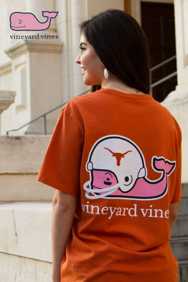 f04f8bdd Get your favorite brand of tees, Vineyard Vines, with in your team color!  This unisex Texas Longhorns t-shirt gets softer after every wash.