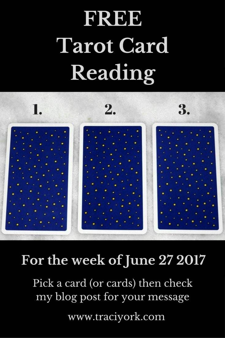 FREE Tarot Card Reading for the week of June 27, 2017. It's Tarot Tuesday! Pick a card, then head to my blog post for your message. As always, thanks for reading, and please feel free to share this post! #TarotTuesday #FreeTarotCardReading #TarotCards #UniversalWaiteSmith #Wicca #Witch #Witchcraft #Tarot #FreeReading #tarotcommunity #tarottribe #cardreading #cardoftheweek