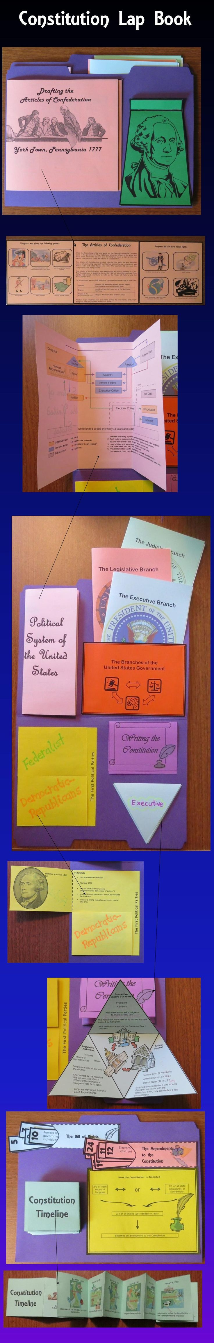 Constitution Contains Interactiveanizers Which May Be Glued Onto A File  Folder To Form A Lap Book