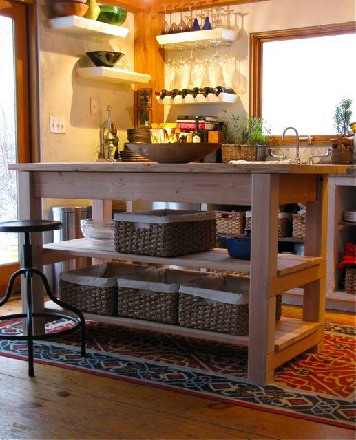 Kitchen Island Pinkglowstarburst
