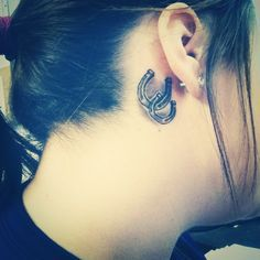 horseshoe tattoo behind ear - I would maybe put it in a different spot