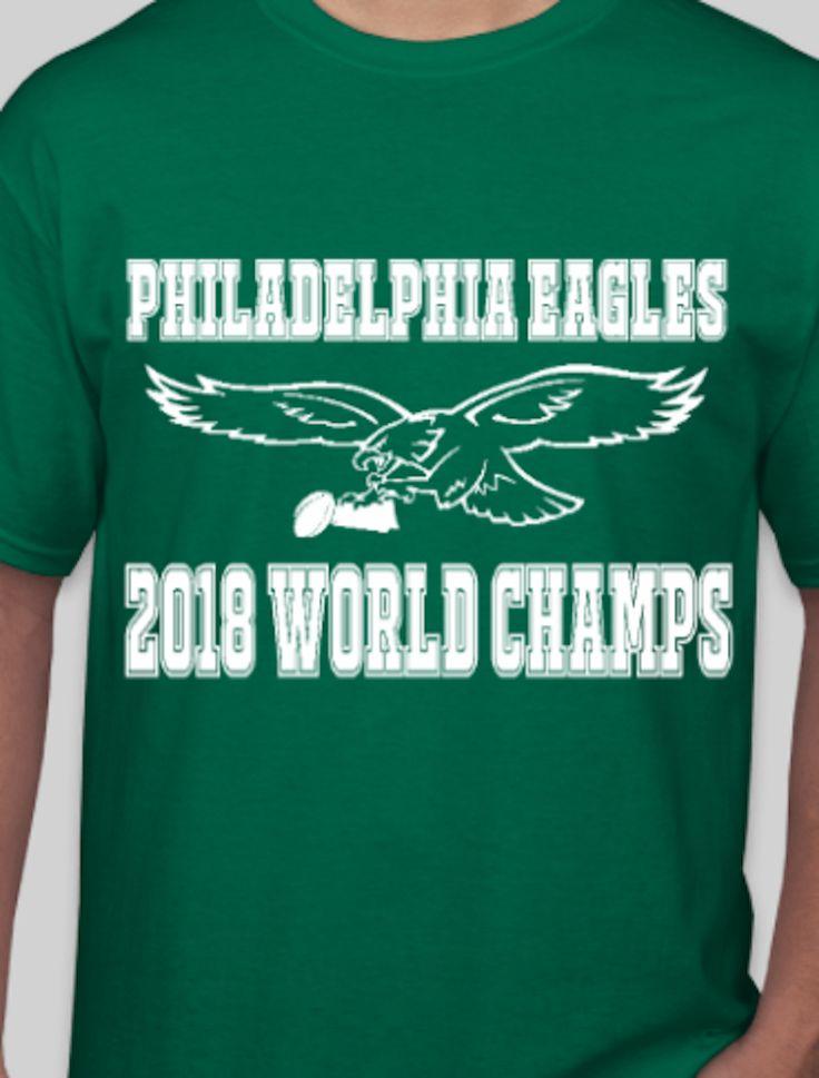 Philadelphia Eagles World Champions T-Shirt - logo with trophy