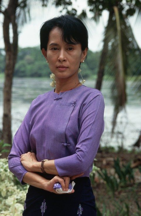 17 of History's Most Rebellious Women |  Aung San Suu Kyi, Myanmar Nobel Peace laureate Aung San Suu has been the foremost leader in the effort to democratize the Southeast Asian nation as well as a courageous advocate for human rights and peaceful revolution. She spent 15 years under house arrest when the government refused to cede power to her after her party was elected. (Alison Wright—Corbis)