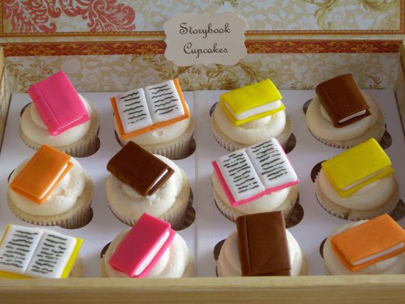 Book cupcakes!  How cool!