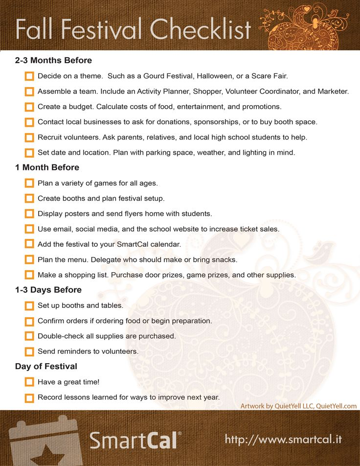 Need help planning your PTA or PTO Fall Festival? Check out this awesome Fall Festival Checklist to make sure you have everything planned down to the very last detail! #PTA