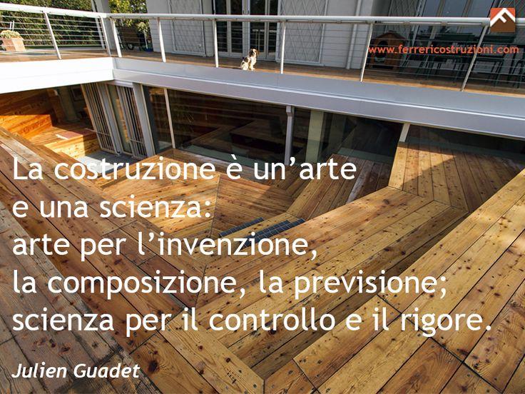La #costruzione è un' #arte e una #scienza!