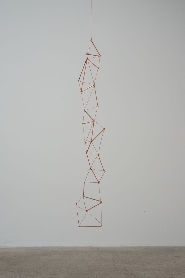 Leonor Antunes  Chain of Triangles (from Dunkirk to Paris