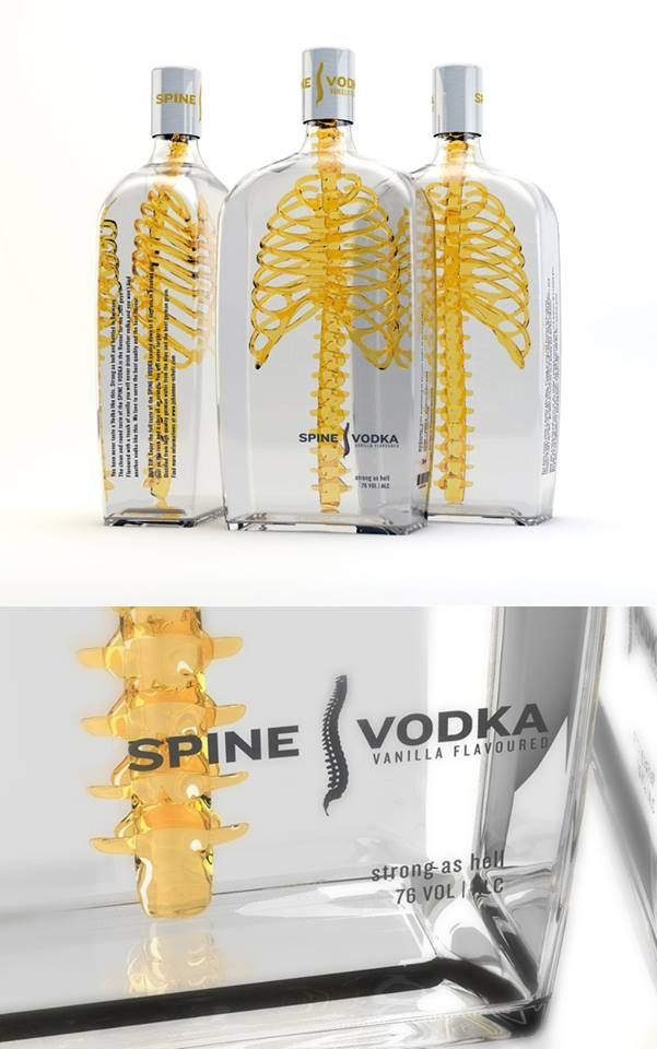 The clear packaging highlights the spookiness inside Vodka Packaging - good for Halloween