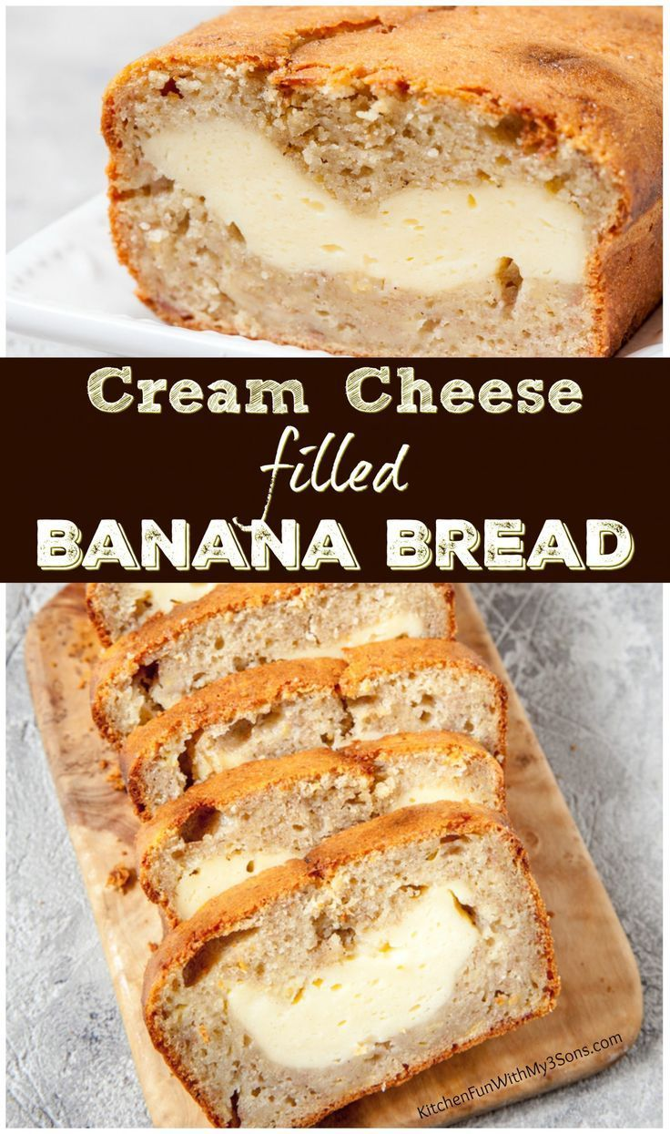 Cream Cheese Banana Bread Recipe This Is Our Favorite Homemade Bread Idea Yum Bananabread Banana Bread Cream Cheese Banana Bread Recipes Banana Recipes