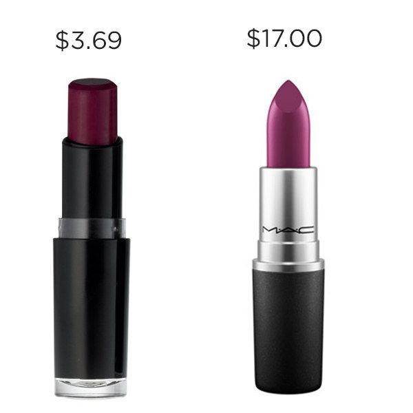 Get the same slay as MAC Rebel with Wet n Wild Sugar Plum Fairy for $13.31 cheaper.