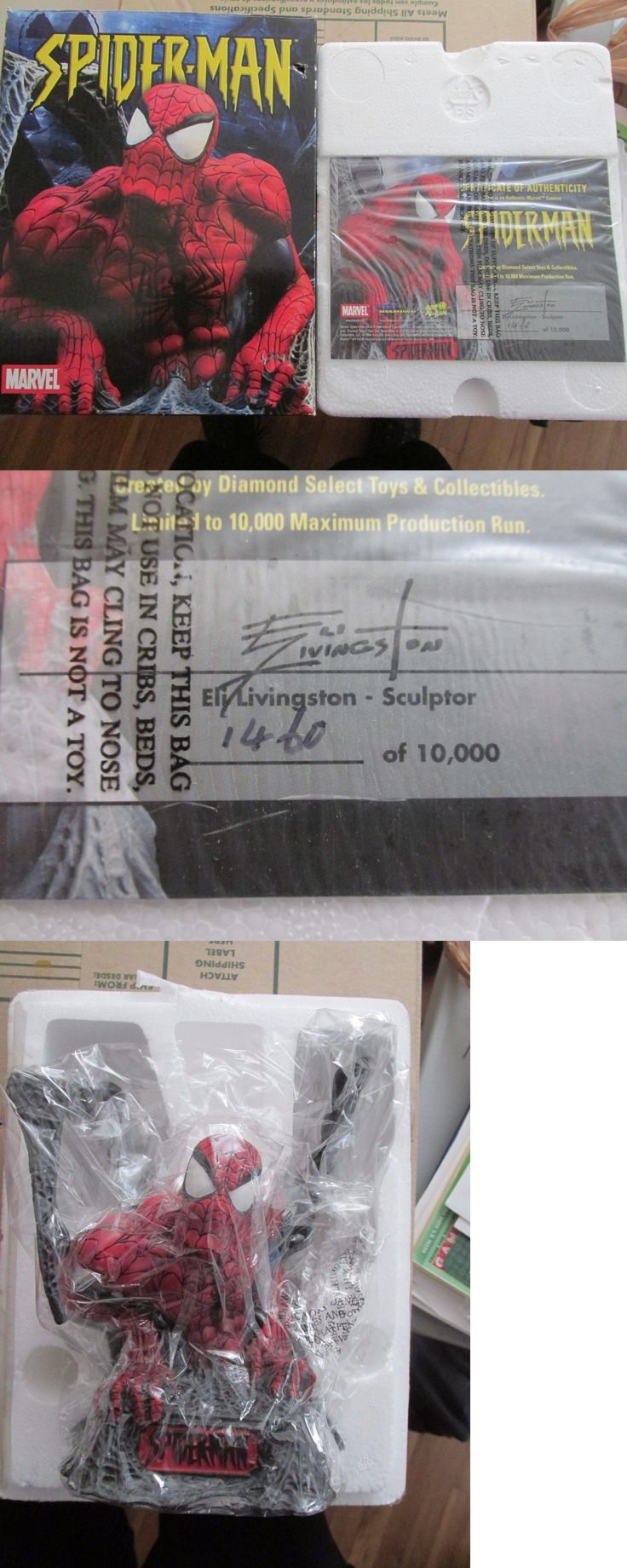 Spider-Man 146094: Spiderman 2004 Marvel Universe Diamond Art Asylum Bust Eli Livingston 1460 10000 -> BUY IT NOW ONLY: $44.99 on eBay!