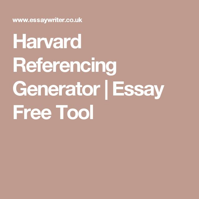 When You Should Use Harvard in Text Website Citation