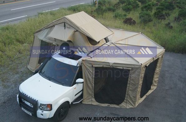 Vehicle Tent With Awnings Lr4 Cool Camping Pinterest