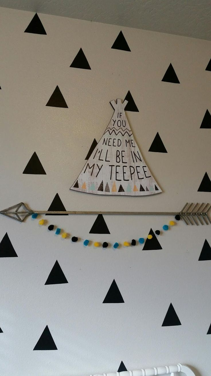 Bless Your Mess by Kess: Tribal Teepee Nursery ♡