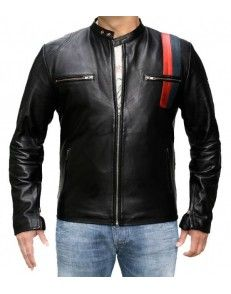 Attractive black bikers leather jacket avail on www.styloleather.com in affordable price #Mensfashion #Menswear #Leatherwearing